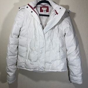 White puffy Jacket from Maurices small